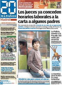 """Jose, portada de """"20 Minutos"""""""