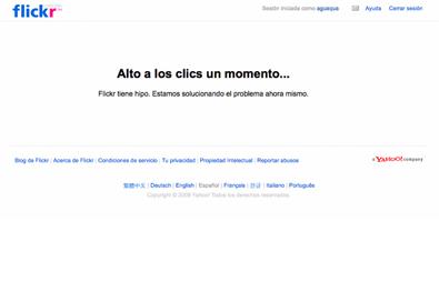 flickr tiene hipo