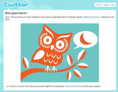 Cuenta sospechosa en Twitter