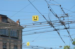 ¿Inspiró el cableado del trolebús suizo a los creadores del logo de vueling?