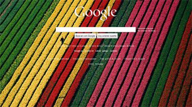 Otra imagen de fondo en Google