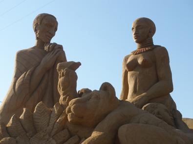 FIESA: Festival de esculturas de arena en Algarve. Africanos