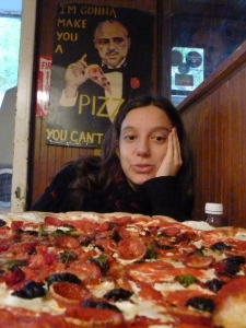 Pizza grande en Grimaldi's