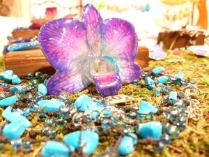 Broche Orquídea en HojaPlata. Mercado de Fuencarral. Madrid