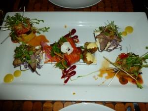 Presentación de platos en Wai Ora