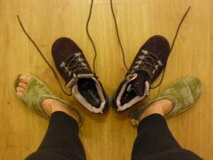 Botas de trekking y zapatillas 4 en 1